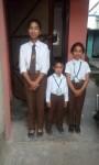Sarina, Samrat und Suprina freuen sich auf die Schule